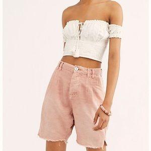 NEW Free People Braided Rose Utility Harem Shorts